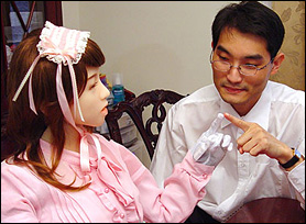 Aiko with inventor Le Trung