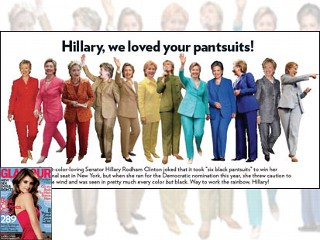 Hillary, we loved your pantsuits!