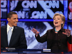 Obama and Clinton (Gabriel Bouys/AFP/Getty Images)