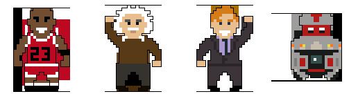 Mascot Mashup 8-bit characters