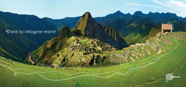 Peru postcard of Machu Picchu