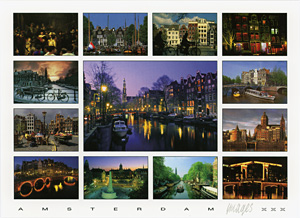 Amsterdam, The Netherlands postcard