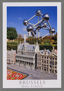 Mini-Europe, Brussels, Belgium postcard