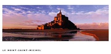 Mont Saint-Michel, France postcard